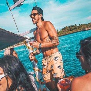Festa no barco