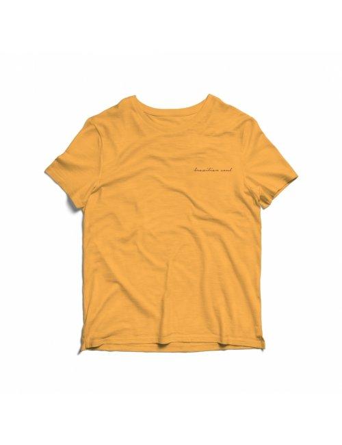Camiseta Coqueiro Infantil - Amarela