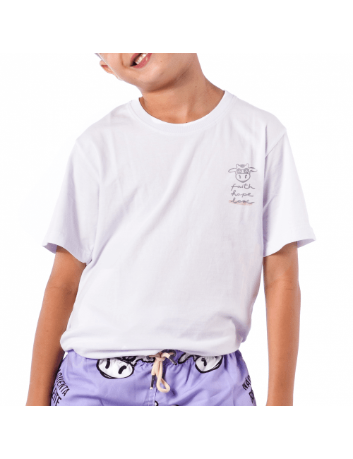 Camiseta do Bem Infantil Eiki - Branca