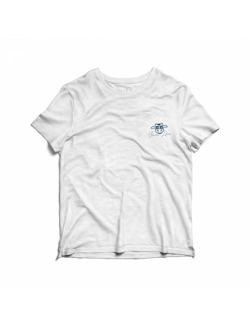 Camiseta Estonada Vaca Lôca Infantil - Branco