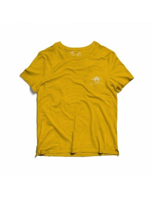 Camiseta Infantil Vaca Lôca - Amarela