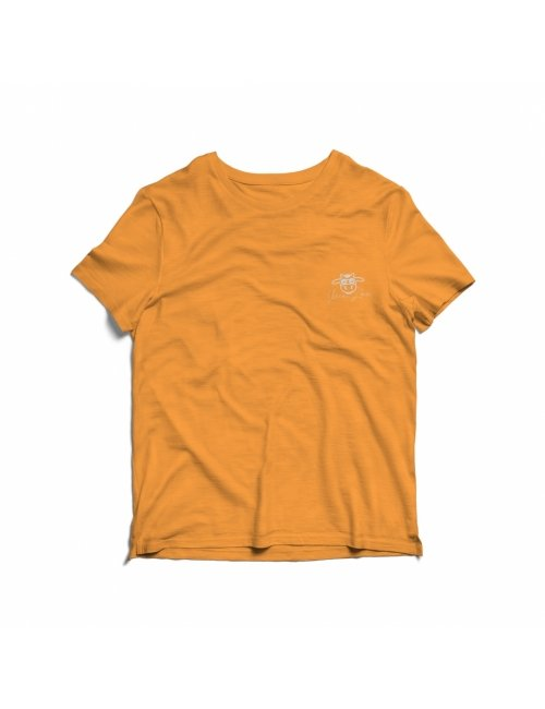 Camiseta Infantil Vaca Lôca - Amarela com Cinza
