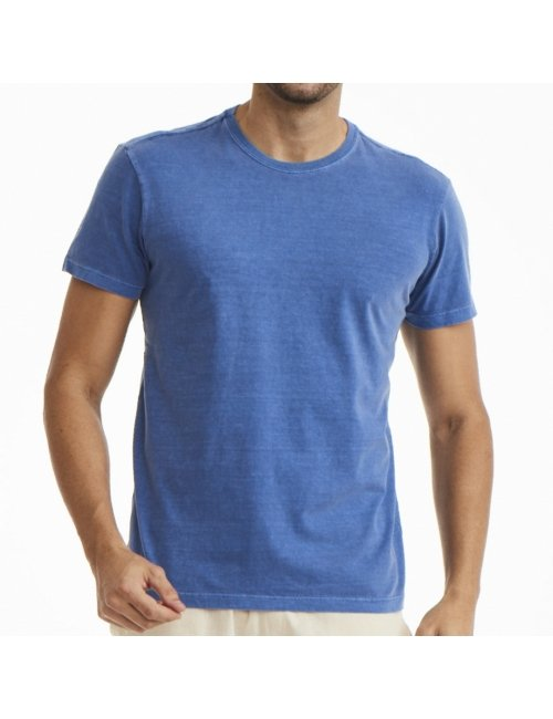 Camiseta Masculina Básica - Azul