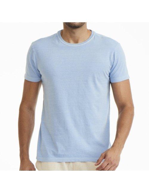 Camiseta Masculina Básica - Azul Claro