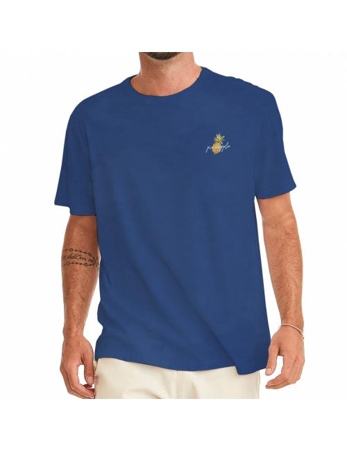Camiseta Masculina Pineapple - Azul