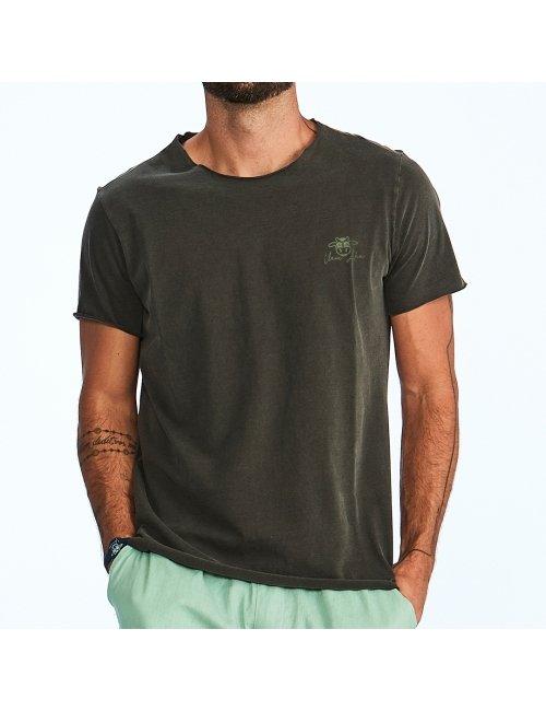 Camiseta Masculina  Vaca Lôca Sem Barra - Chumbo
