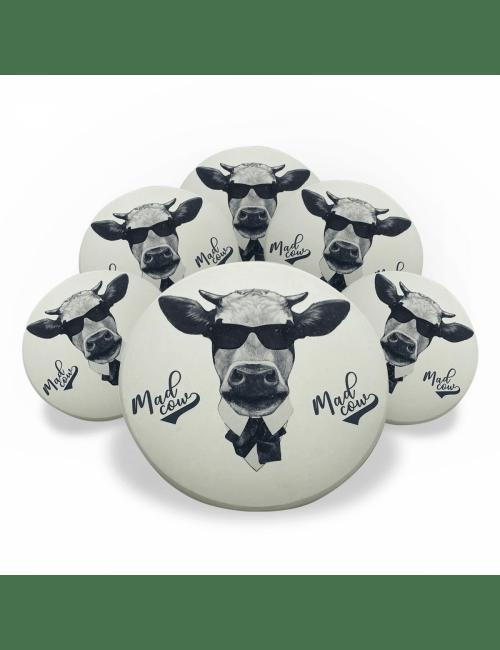 Jogo Porta Copos de Cerâmica  6 unidades - Mad Cow