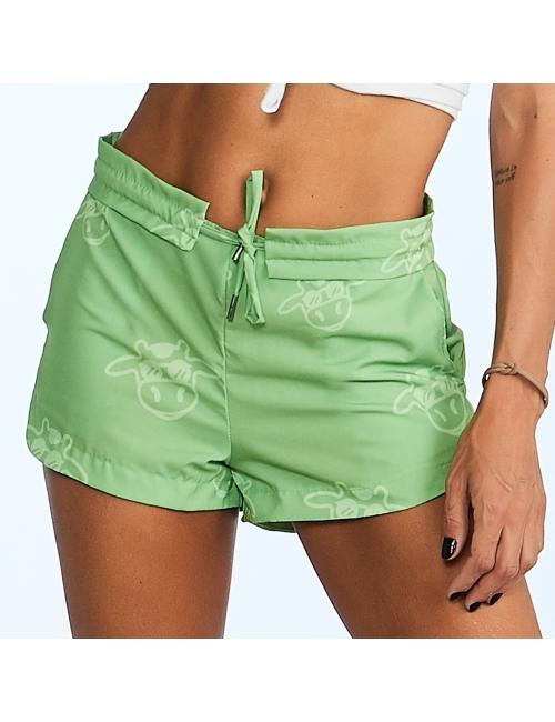 COMBO Mãe + Filha - Shorts Tom Sobre Tom Verde Abacate