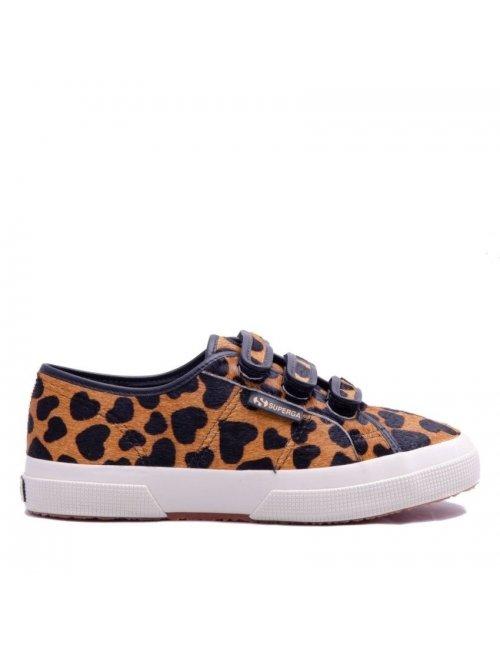 SUPERGA 2750 Cotu Classic 3 Straps Animal Print Leather - Leopard