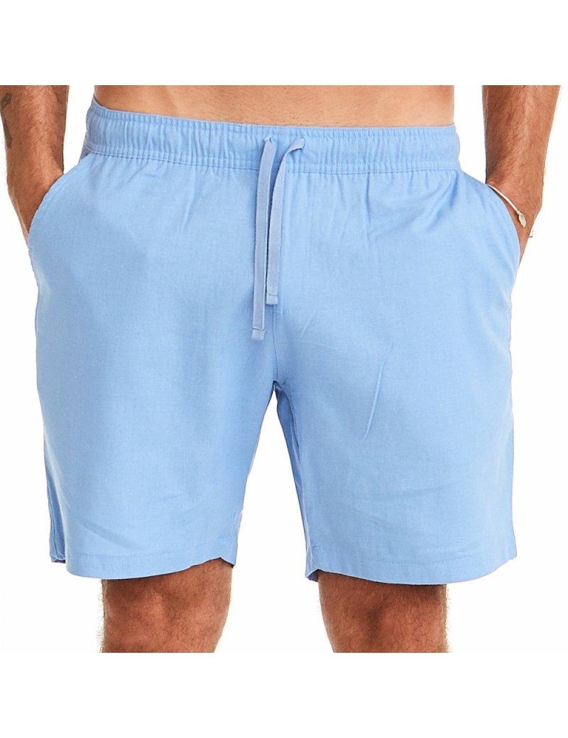 Bermuda Linho - Azul  Blue Linen