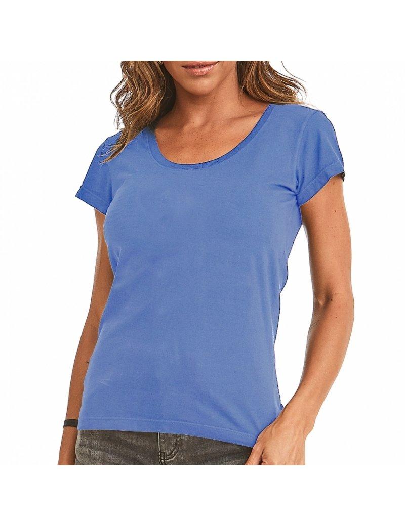 Camiseta Estonada Feminina - Azul Bebê