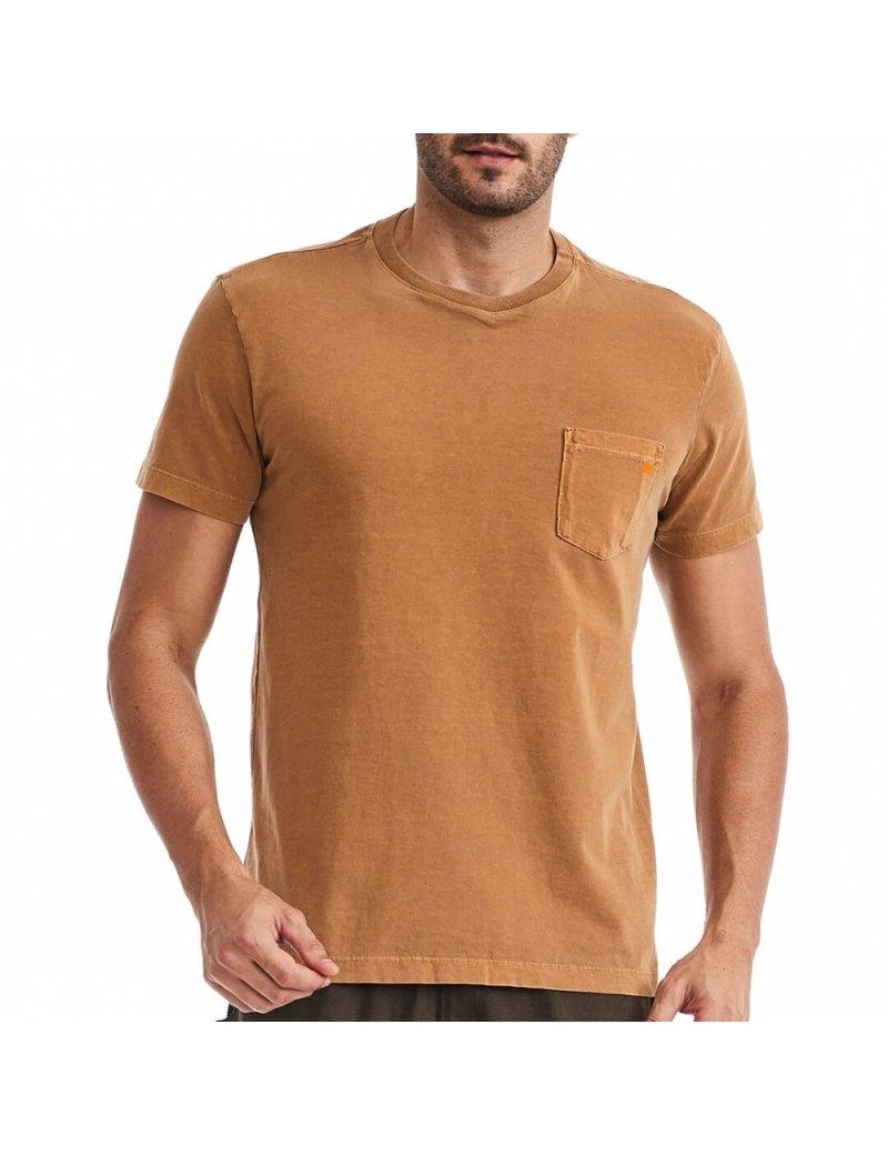 Camiseta Bolso Masculina Caramelo com Laranja - Vaca Lôca