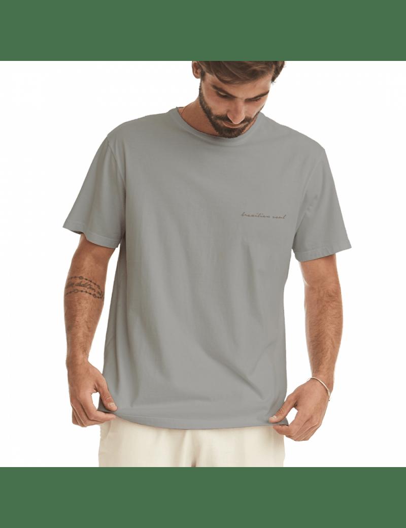 Camiseta Coqueiro Masculina - Cinza