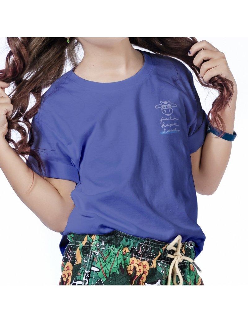 Camiseta do Bem Infantil Eiki - Azul Escuro
