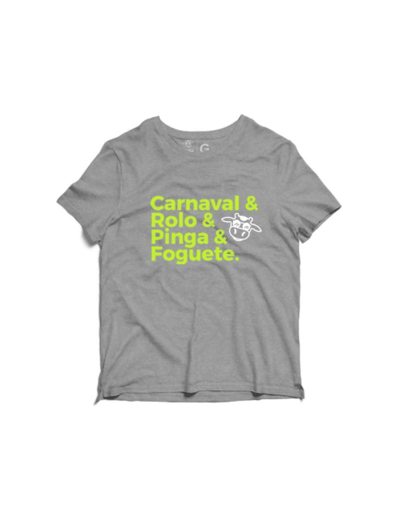 Camiseta Estonada Masculina - Carnaval Rolo Pinga Foguete