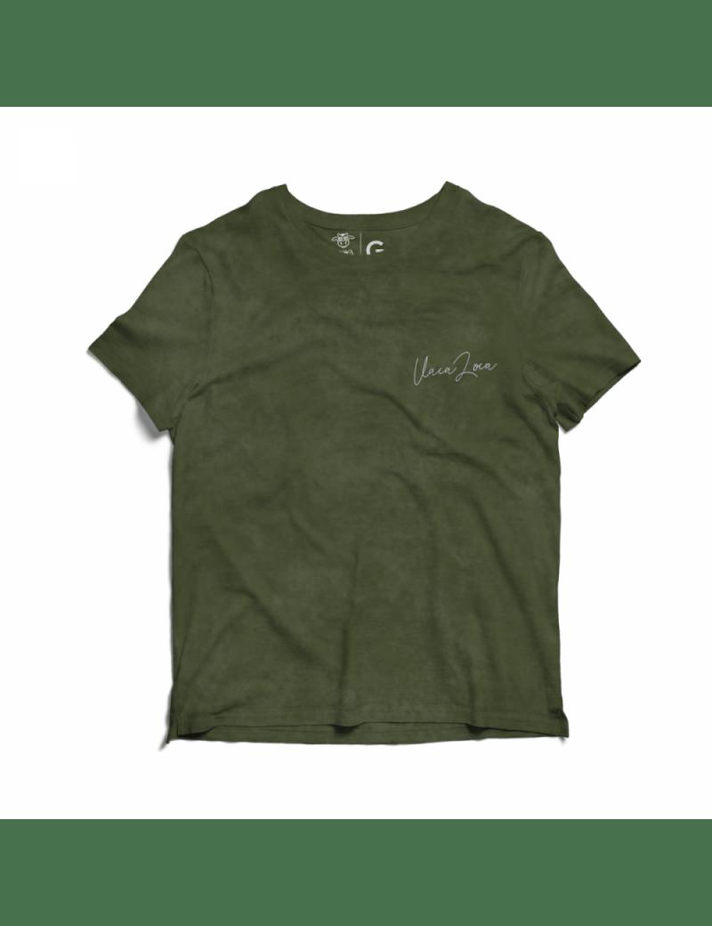 Camiseta Estonada Infantil Kombi - Verde Escura