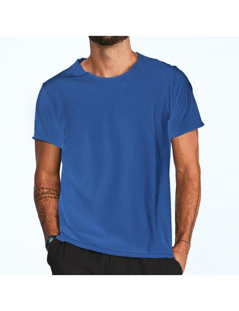 Camiseta Estonada Sem Barra - Azul