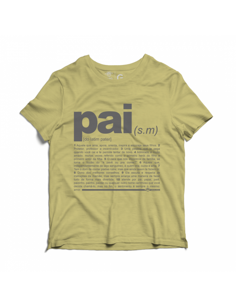 Camiseta Estonada Vaca Lôca Pai - Bege