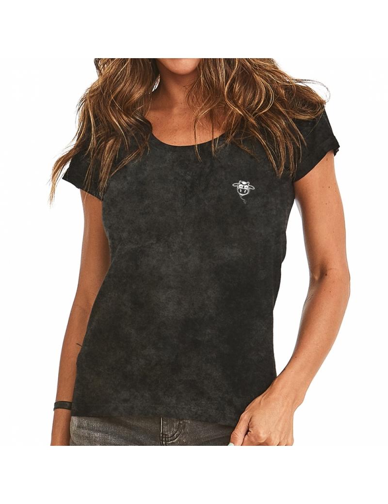 Camiseta do Bem Feminina - Preta Marmorizada
