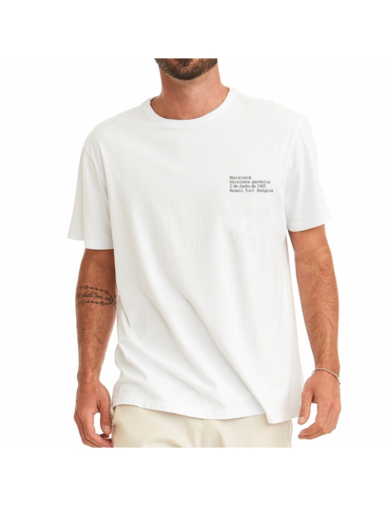 Camiseta Masculina A Bicicleta Perfeita - Branca