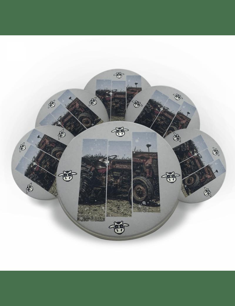 Jogo Porta Copos de Cerâmica 6 unidades - Trator