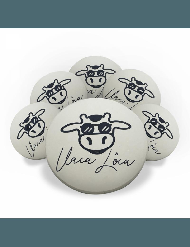 Jogo Porta Copos de Cerâmica 6 unidades - Vaca lôca
