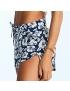 COMBO Mãe + Filha - Shorts Floral Azul