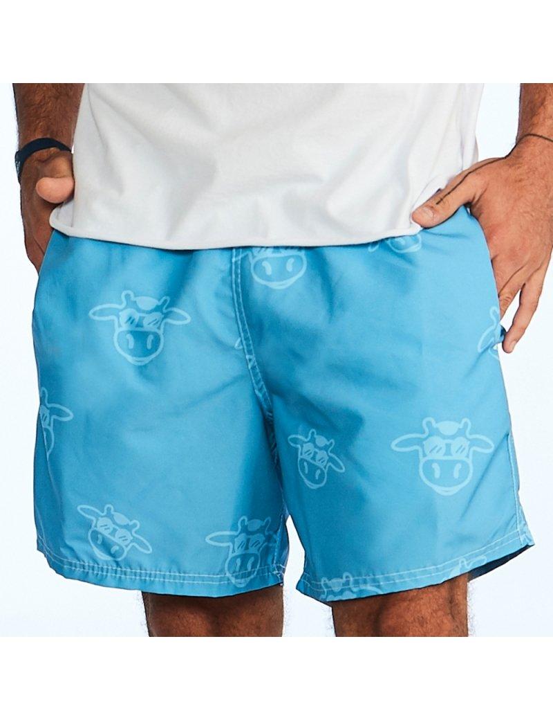 Shorts de Praia Masculino Liso Tom Sobre Tom - Azul