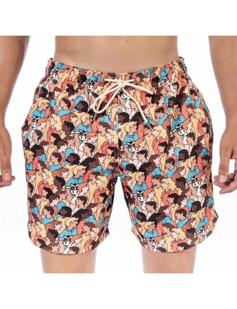 Shorts de Praia Masculino Blandine - Personnes