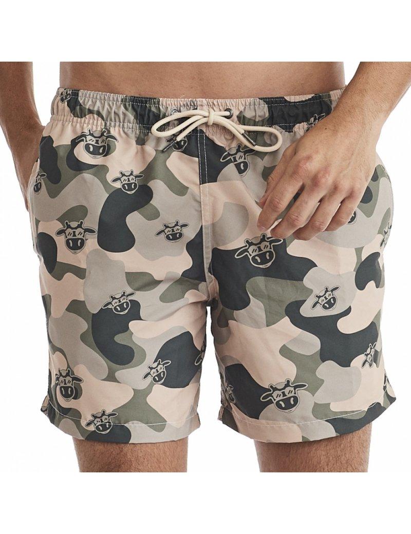 Shorts de Praia Masculino Camuflado - Verde